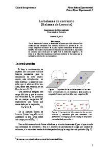 La balanza de corriente (Balanza de Lorentz)