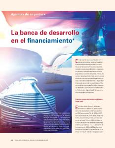 La banca de desarrollo en el financiamiento*