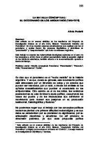 LA BATALLA CONCEPTUAL: EL DICCIONARIO DE LOS ARGENTINOS ( )
