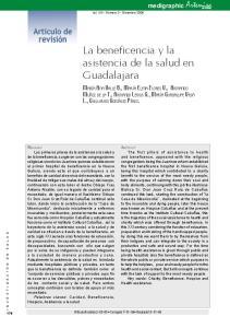 La beneficencia y la asistencia de la salud en Guadalajara