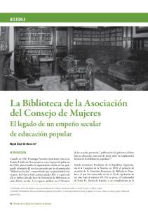 La Biblioteca de la Asociación del Consejo de Mujeres