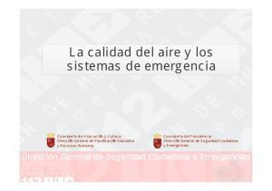 La calidad del aire y los sistemas de emergencia