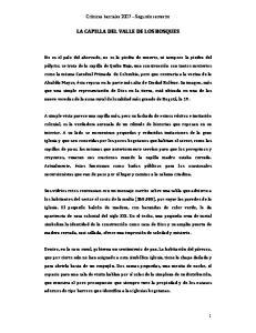 LA CAPILLA DEL VALLE DE LOS BOSQUES