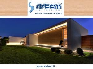 La casa italiana de madera