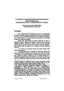 LA CELESTINA: ADICIONES PRIMERAS AMPLIFICADAS CON