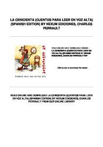 LA CENICIENTA (CUENTOS PARA LEER EN VOZ ALTA) (SPANISH EDITION) BY NEXUM EDICIONES, CHARLES PERRAULT