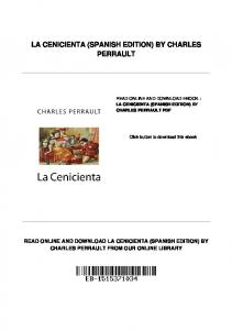 LA CENICIENTA (SPANISH EDITION) BY CHARLES PERRAULT