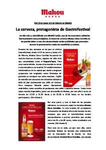 La cerveza, protagonista de Gastrofestival