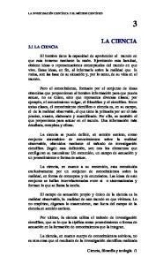 LA CIENCIA 3.1 LA CIENCIA
