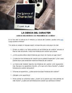 LA CIENCIA DEL CARACTER