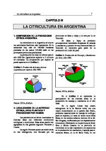 LA CITRICULTURA EN ARGENTINA