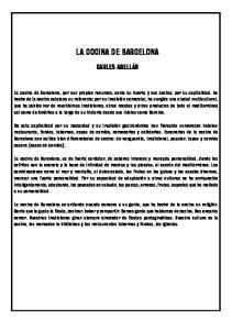 LA COCINA DE BARCELONA