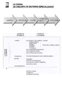 LA COCINA. UN CONJUNTO DE SECTORES ESPECIALIZADOS