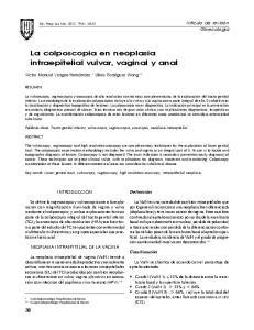 La colposcopia en neoplasia intraepitelial vulvar, vaginal y anal
