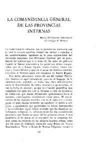LA COMANDANCIA GENERAL DE LAS PROVINCIAS INTERNAS