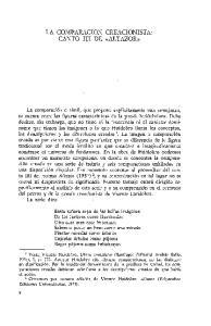 LA COMPARACION CREACIONISTA: CANTO III DE