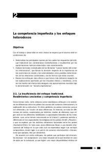 La competencia imperfecta y los enfoques heterodoxos