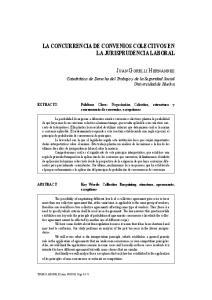 LA CONCURRENCIA DE CONVENIOS COLECTIVOS EN LA JURISPRUDENCIA LABORAL