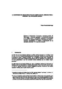 LA CONVERSION DE PENAS PRIVATIVAS DE LIBERTAD EN EL DERECHO PENAL PERUANO Y SU APLICACION JUDICIAL