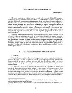 LA CRISIS DE CUIDADO EN CHILE 1