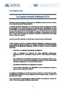 La Cuenta Corriente Tributaria (CCT)