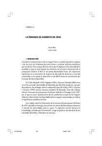 LA DEMANDA DE ALIMENTOS EN CHILE