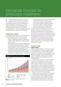 La demanda de productos madereros es uno de los