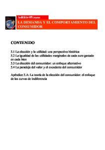 LA DEMANDA Y EL COMPORTAMIENTO DEL CONSUMIDOR