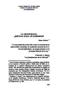 LA DEMOCRACIA: SISTEMA IDEAL DE GOBIERNO?