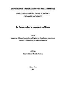 La Democracia y la autocracia en Kelsen