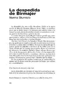 La despedida de Birmajer Norma Sturniolo
