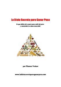 La Dieta Secreta para Ganar Peso