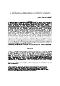 LA DIGNIDAD DE LAS PERSONAS EN LAS CATASTROFES NATURALES 1