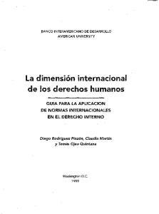 La dimension internacional de los derechos humanos