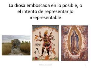 La diosa emboscada en lo posible, o el intento de representar lo irrepresentable. La diosa emboscada
