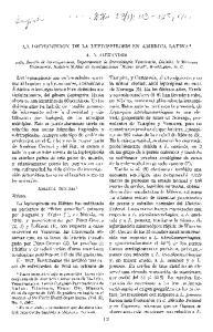 LA DISTRIBUCION DE LA LEPTOSPIROSIS EN AMERICA LATINA*
