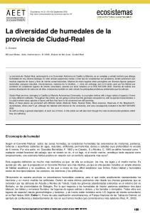 La diversidad de humedales de la provincia de Ciudad-Real
