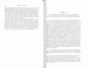 LA DOCTRINA CLASTCA DE LA POLITICA EN SU RELACION CON LA FILOSOFIA SOCIAL