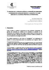 LA DOCTRINA DE LA EXTRAPOLACIÓN DE LA CONDICIÓN DE CONSUMIDOR