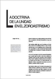 LA DOCTRINA DE LA UNIDAD EN EL ZOROASTRISMO