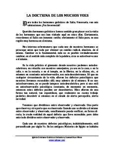 LA DOCTRINA DE LOS MUCHOS YOES