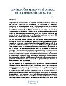 La educación superior en el contexto de la globalización capitalista