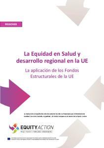 La Equidad en Salud y desarrollo regional en la UE