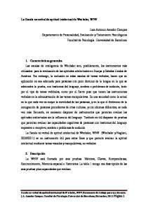 La Escala no verbal de aptitud intelectual de Wechsler, WNV