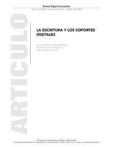 LA ESCRITURA Y LOS SOPORTES DIGITALES