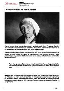 La Espiritualidad de Madre Teresa