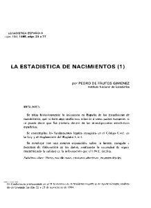 LA ESTADISTICA DE NACI M IENTOS (1)