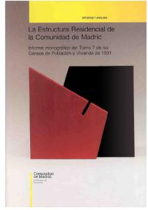 La Estructura Residencial de la Comunidad de Madrid