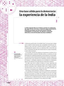 la experiencia de la India