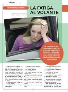 LA FATIGA AL VOLANTE. Informe